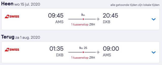 Retour tickets Amsterdam > Dubai | 16 dagen | €321,- 2