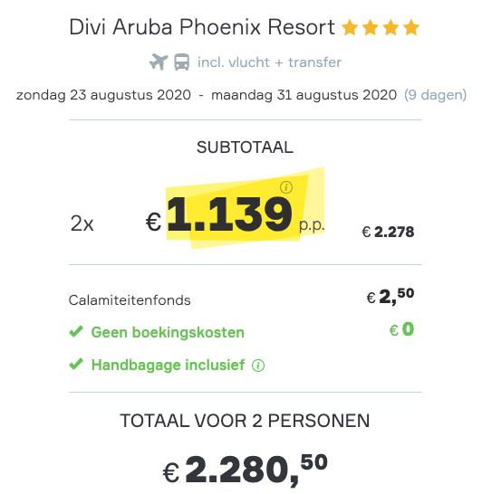 Amsterdam > Aruba | Goedkoop 9 daagjes weg in Augustus | Incl. vlucht + transfer 2