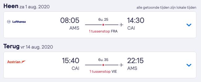 Goedkope vliegtickets naar Caïro voor 13 dagen 2